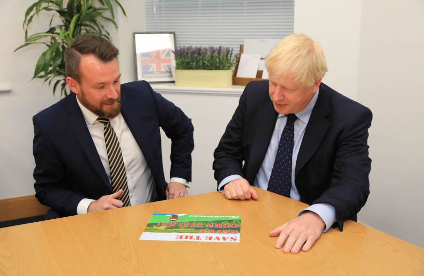 Stuart Anderson with PM Boris Johnson - Discussion