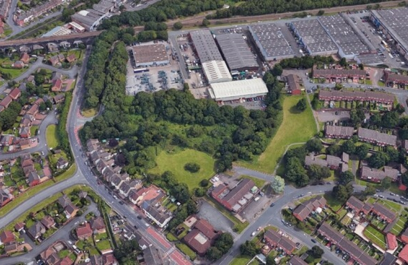An aerial view showing the land off Gorsebrook Road. Photo: Google