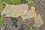 A planning document outlining the area of land which developers are eyeing up